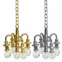 Puppenhaus Miniatur Möbel 1:12 Puppenhaus Zubehör Mini Lampe Kronleuchter W9L0