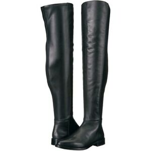 Vince Camuto Hailie Black Leather Stretch Dress Boots Size 7M New