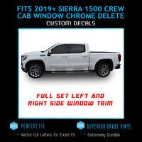 For 2019+ GMC Sierra 1500 Crew Cab ONLY Window Trim Chrome Delete Blackout Kit
