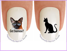 Nail Decals #2053 CATS Got Siamese Cat? WaterSlide Nail Art Transfers Stickers