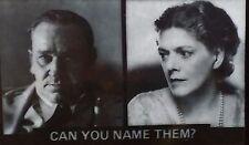"Ethel Barrymore ""Can You Name Them?"" Magic Lantern Glass Slide"
