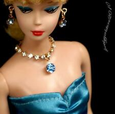 Handmade Barbie doll jewelry necklace earrings for Barbie doll 788A