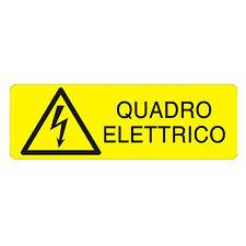 """Cartelli di Sicurezza UNI7543 """"Quadro Elettrico"""""""