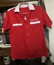 Vintage Chainstiched Button Up Bowling Shirt For Fire Department