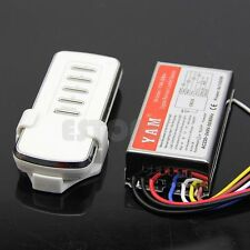 AC 220V Digital Remote Control Switch 4 Ways ON/OFF Controller Fr Light Lamp New