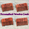 Personalised Wooden Rustic Hair Comb Beard Comb Bridesmaid Groomsmen gifts v