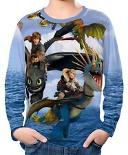 How To Train Your Dragon Kinder Jungen Langarm T-Shirt wc2 ael30456