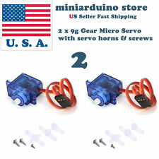 2 Pcs Mini Gear Micro 9g Servo For RC Helicopter Airplane Boat Car Arduino