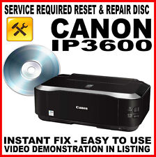 Canon Pixma iP3600 - Fault Reset Disc Service Repair Flashing Light Fix