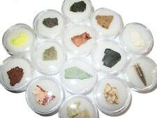 Mt Teide volcanic lava rock collection 14 types ash pumice tuff lava in gem jars
