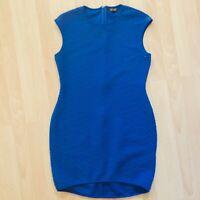 Topshop Womens Cobalt Knit Quilted Sleeveless Dress 12