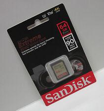 Sandisk 64G extreme V30 4K Ultra HD SD card for Sony PXW-Z150 PXW-Z100 PXW Z150