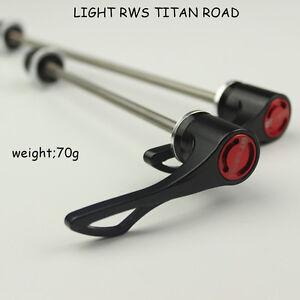 1 Pair  Light RWS Titanium Road Quick Release Rotatable QR Hub Skewers