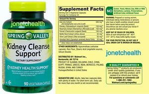 (90 CT) Spring Valley Kidney Cleanse Support Dietary Supplement
