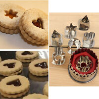 7pc Stainless Steel Biscuit Cookie Cake Pastry Fresh Fondant Mold Mould-Cutter