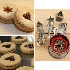 Stainless Steel Biscuit Cookie Cake Pastry Fondant Mold Mould Cutter 7pcs/set