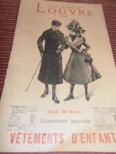 CATALOGUE VETEMENTS D'ENFANTS AU LOUVRE MODE 1890 / 1900  (ref 55)