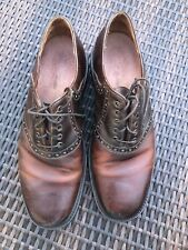 Johnston & Murphy Mens 11 M  Leather Italy Lace Up Shoes Perforated Design Brown