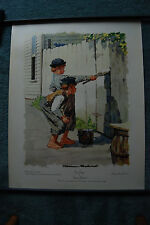 Norman Rockwell Signed Collotype - 29x35 - Tom Sawyer Whitewashing the Fence