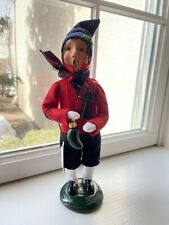 Byers choice Caroler Little Boy with German Pickle signed/numbered