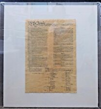 Large Plexiglas US Constitution Replica on Parchment Paper Free Delivery in LAC.