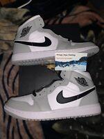 Nike Air Jordan 1 Mid Smoke Grey Size 9.5- 554724092 Tried On