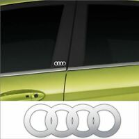 Audi A2, A3, A4, A6 Chrome Vinyl Car Door Pillar Decals X2