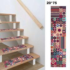 13Pcs Hall Bohemia Stair Runner Treads Rugs Mats 8 x 30'' Non-Skid Carpets Boho