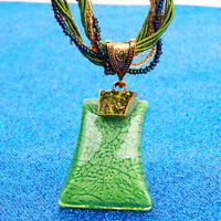 Vintage Retro Pendant Bohemia Style Multilayer Necklace Handmade Jewelry 8C