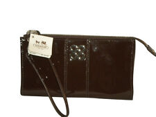 NWT COACH 46726 JULIA PATENT LEATHER ZIPPY CLUTCH WRISTLET