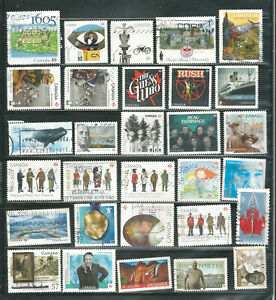 a stock page of recent used stamps from Canada.(C-097)