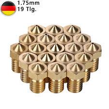 19X Ersatz Extruder Düsen 0,2-1mm Für 1,75mm E3D-V5/V6 3D Drucker Zubehör &Teile