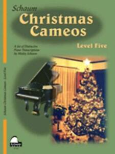 SCHAUM CHRISTMAS CAMEOS LEVEL 5 MUSIC BOOK PIANO UPPER INTERMEDIATE NEW ON SALE