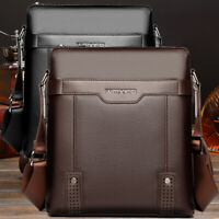 US Men's Soft Leather Messenger Bags Shoulder Briefcase Bag Crossbody Handbag