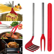 3 Piece Cooking Utensils Tovolo Set: Pasta Rake Basting Buddy Nylon Fork