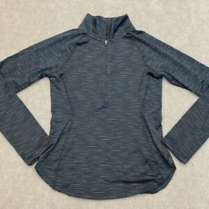 90 Degree by Reflex Active Wear Long Sleeve Top Black Striped Women's Size Small