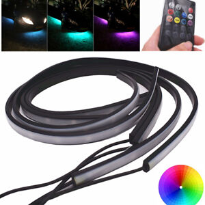 4x 60+90cm Under Car RGB LED Strip Light Underbody Decoration Glow Lamp + Remote