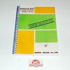 Honda Factory Atelier Manuel Livre CB450 DOHC double, reproduction. hwm005