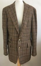 Polo Ralph Lauren Mens Vintage Brown Tweed Wool Jacket Large Blazer