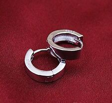 Stainless steel Round Hoop Loop Circle Earrings.12mm Wide