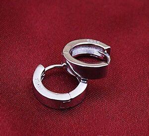 Stainless steel Round Hoop Loop Circle Earrings.12mm Wide
