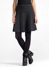 Eileen Fisher Charcoal A-Line Short Skirt In Fine Merino Wool S  NWT