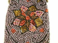 New listing Antique Victorian Ladies Beaded Eye Glass Carrier Handbag with Metal Frame