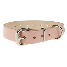 Adjustable Plain Embossed 100% Leather Dog Pet Collar Handmade In England