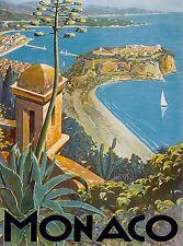 Monaco Monte Carlo France French Scenic Travel Art Poster Advertisement