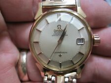 OMEGA  CONTELLATION 18K PINK GOLD PIE PAN DIAL 564 AUTOMATIC RUNING WRIST WATCH