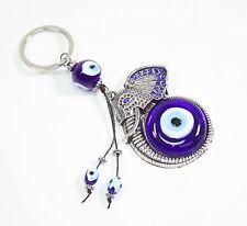 Evil Eyes Lucky Charm Jeweled Elephant Head Keychain Protection Bag Accessories