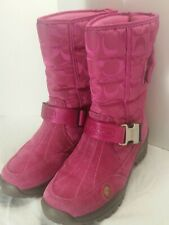 Coach Boots Pink Sandi Suede  Size 6M EUC