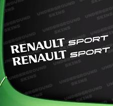 RENAULT SPORT  X2 CAR FUNNY STICKER JDM FUNNY CLIO MEGANE TWINGO CAPTUR