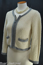 Giordano Concepts zip up cardigan sweater crop coat Top bouncle knit Size S NEW